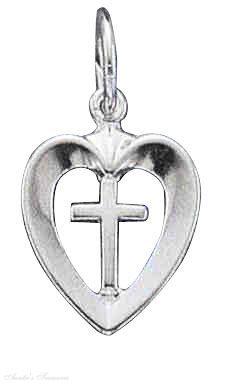 Open Heart Center Christian Religious Cross Charm