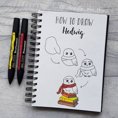 Comment your favorite doodles 💕 Easy Doodles Drawings, Easy Doodle Art, Simple Doodles, Cute Doodles, Harry Potter Journal, Harry Potter Drawings Easy, Harry Potter Diy, Desenhos Harry Potter, Bullet Journal Art
