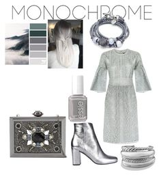 """""""gray"""" by mcounce on Polyvore featuring Burberry, Yves Saint Laurent, ALDO, Lizzy James, David Yurman and Essie"""