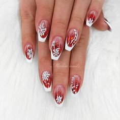 30 Sexy Nail Art Design 2019 To Make You Look Sassy - Trending Beauty Artist Work - Katty Glamour French Manicure Nail Designs, Marble Nail Designs, Flower Nail Designs, White Nail Designs, French Tip Nails, Gel Nail Designs, Nails Design, Red Sparkly Nails, Pink Black Nails