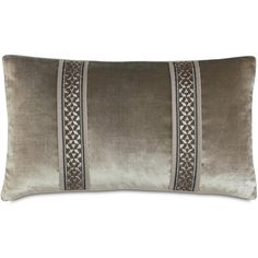 Ezra Velda Smoke Bolster Decorative Pillow ($150) ❤ liked on Polyvore featuring home, home decor, throw pillows, textured throw pillows, embroidered throw pillows, geometric throw pillows, graphic throw pillows and contemporary throw pillows