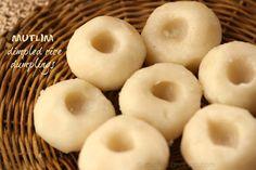 Ruchik Randhap (Delicious Cooking): Mutlim / Mutlin (Dimpled Rice Dumplings)