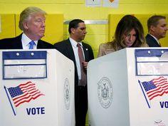 ¿No confía en ella? Trump espía el voto de Melania; se vuelve viral | El Puntero