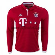Billige Fodboldtrøjer Bayern Munich 2016-17 Langærmet Hjemmebanetrøje