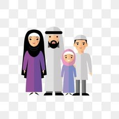 الأسرة العربية الكرتون ناقلات أسرة النخيل اللون عرب Png والمتجهات للتحميل مجانا