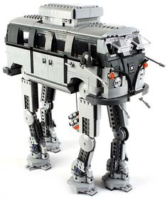Who would've guessed that an Imperial war machine and an earthly hippie van could be combined so well? Called the AT-AT-VW, this brilliant creation was custom-made by Denmark-based LEGO design lead Craig Callum.