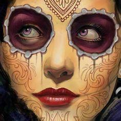 Painting by Tattoo Artist Luis Orellana at All Style Tattoo in Berlin, Germany http://www.tattoosberlin.com/