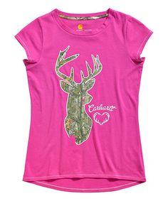 Look what I found on #zulily! Wild Fuchsia Camo Deer Tee - Girls by Carhartt #zulilyfinds