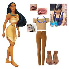 """""""Pocahontas"""" by batgirl-at-the-walking-dead3 ❤ liked on Polyvore featuring Alice + Olivia, Amapô, Lauren Ralph Lauren, WithChic, cute, disney, indian, johnsmith and Pocahuntas"""