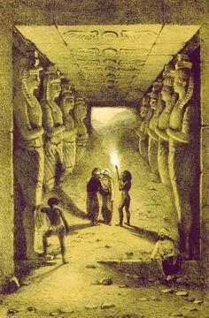 1843........TEMPLE OF ABU SIMBEL......IN NUBIA........SOURCE ANCIENTART.TUMBLR.COM...............