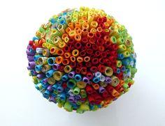 Paper Art Sculpture Rainbow by abadova on Etsy, $95.00