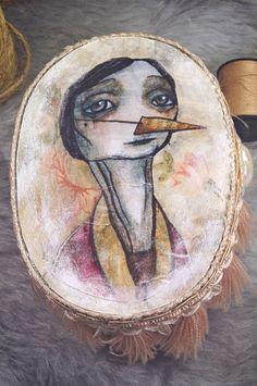 Marina Pinochina  original painting small box by SandraArteagA