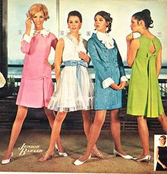 Teen Dresses from a 1968 catalog.