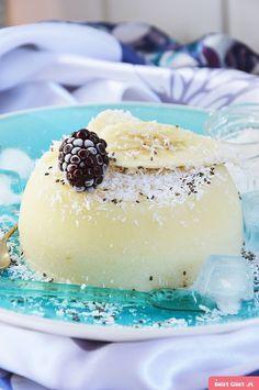 Sorbet pina colada Pina Colada, Sorbet, Panna Cotta, Ethnic Recipes, Food, Dulce De Leche, Essen, Meals, Yemek