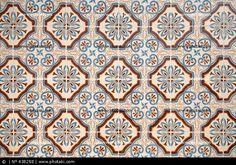 Spaanse keramische tegels vintage