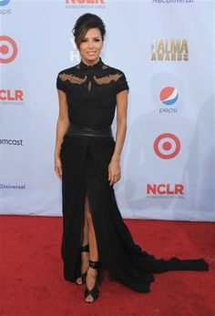 Eva Longoria arrives at the 2012 ALMA Awards.