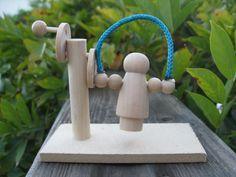 wooden jumping jill toy kit