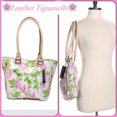 """HOST PICKLovely 100% Leather Tignanello Bag Lovely 100% Leather Tignanello Bag Length-15"""" Height-11"""" Depth-4"""" Strap Drop-9 1/2"""" Snap Closure with 2 Large Compartments and a Large Center Zip Compartment. 2 Interior Multifunction Pockets and 1 Large Zip Pocket. Exterior has 2 Large Side Zip Pockets and 2 Open Pockets. Tignanello Bags"""