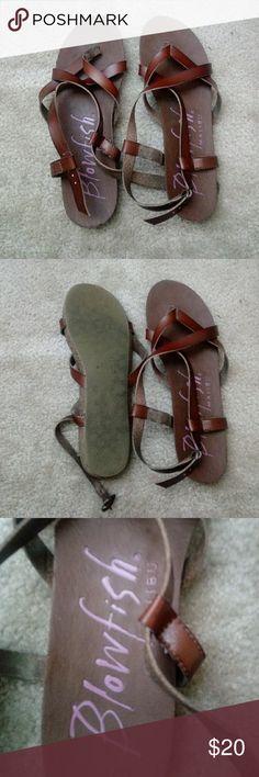 Sandals Brown blowfish sandals, barely worn! Blowfish Shoes Sandals