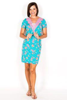 Jasmine Short-Sleeve Dress-Snorkel