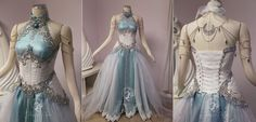 Our customer sent us an image ofTyrandeWhisperwind from World of Warcraft to use as inspirationin her gown design. I wanted to give the feeling that her gown was woven from moonli...