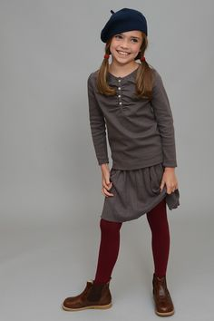 Pleated Sweater Skirt | Olive Juice #olivejuicekids #backtoschoolfashion