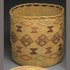 An Aleut polychrome basket