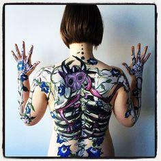Body paint - Artist: Milly Yencken https://www.facebook.com/thetravellingpaintbox/timeline