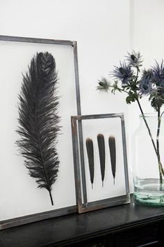 BLACK WHITE SILVER GLAM ART