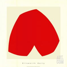 Red White, c.1962 Serigraph by Ellsworth Kelly at Art.com