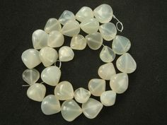 White Moonstone Smooth Heart / 9 to 13 mm / 28 Pieces / ST-944 by beadsofgemstone on Etsy