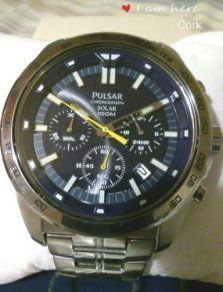 Brand New Pulsar Sport Chronograph 100m Solar Men's Watch Cork City, Mens Watches For Sale, 100m, Watch Sale, Sport Watches, Solar Power, Jewelry Stores, Chronograph, This Or That Questions