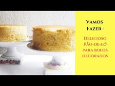 pão de ló delicioso para decorar bolos - Bolos Doces e Cupcakes