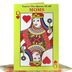 Mom You Are Queen Of All Moms You're the Queen of all Moms. And it's your day, So only the royal treatment will do | Card Size : 9 X 6 inch | Rs. 124 | Shop Now | https://hallmarkcards.co.in/collections/mothers-day-2016/products/buy-mothers-day-quote