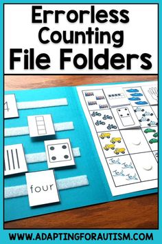 Errorless Counting File Folder Activities for Special Education and Autism File Folder Activities, Math Activities, Folder Games, Student Data, Student Learning, Preschool Special Education, Music Education, How To Gain Confidence, School Psychology