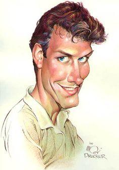 caricature of Tom Richmond by Mort Drucker