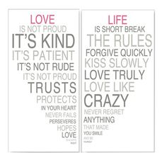 I pinned this 2 Piece Love & Life Wall Art Set II from the Sweets for Your Sweet event at Joss and Main!