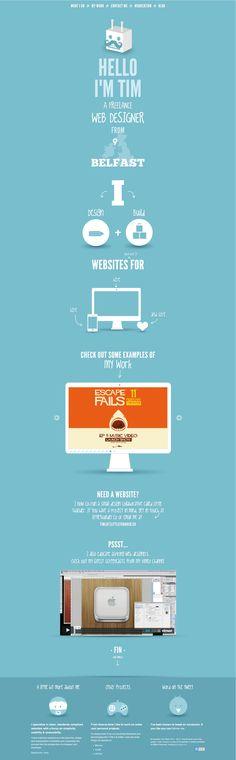 Tim Potter. Simple, easy, straightforward, understandable portfolio site. #webdesign #design (View more at www.aldenchong.com)