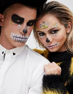Discover Halloween costumes for women at ASOS. Browse the latest Halloween ideas and our spooky halloween range from dresses to make up. Shop now at ASOS. Couples Halloween, Scary Halloween Masks, Halloween Inspo, Fete Halloween, Halloween Makeup Looks, Couple Halloween Costumes, Halloween 2020, Halloween Outfits, Halloween Make Up