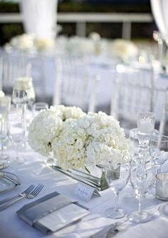 simple. all white table setting