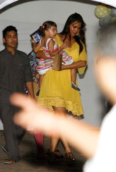 Lara Dutta seen making an entry with her little one Saira at Shilpa Shetty's son Viaan's 2nd birthday. #Style #Bollywood #Beauty #Fashion