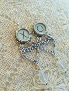 932409b8d1d04 785 Best Antique Typewriter Key Jewelry and Accessories by Funky ...