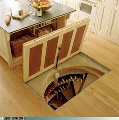 A wine cellar that can double as a tornado shelter.