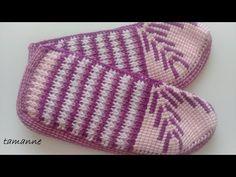 Selanik Modeli Tunus İşi Patik Yapılışı - YouTube Knitted Hats, Piano, Loafers & Slip Ons, Socks, Chrochet, Inside Shoes, Knit Hats, Pianos, Knitted Beanies