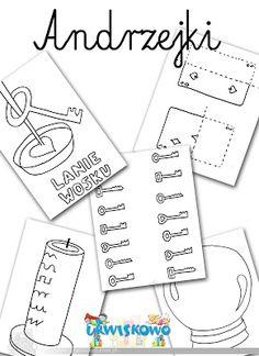 "Andrzejkowe karty pracy ~ ""URWISKOWO"" Nursery School, Autumn Crafts, Holidays And Events, Nursery Art, Montessori, Kindergarten, Preschool, Techno, Classroom"