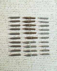 24 Assorted Vintage Dip Pen Nibs  Palmer Method by 5and10vintage