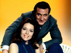 """The Avengers"" -- Diana Rigg and Patrick MacNee."