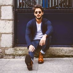 How to Wear a Jacket For Men looks & outfits) Mode Masculine, Stylish Men, Men Casual, Casual Shoes, Smart Casual, Casual Chic, Mode Man, Asos T Shirts, Moda Blog