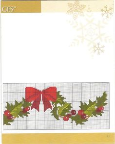 Xmas Cross Stitch, Cross Stitching, Cross Stitch Patterns, Christmas Embroidery, Christmas Cross, Needlepoint, Diy And Crafts, Old Cards, Cross Stitch Designs