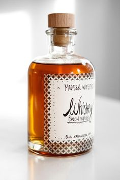 Homemade Bacon Infused Whiskey